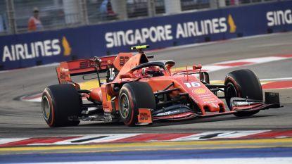 Leclerc snelste voor Hamilton en Vettel in derde vrije oefensessie in Singapore, Verstappen pas zesde