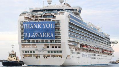 'Coronacruiseschip' Ruby Princess mag Australië eindelijk verlaten