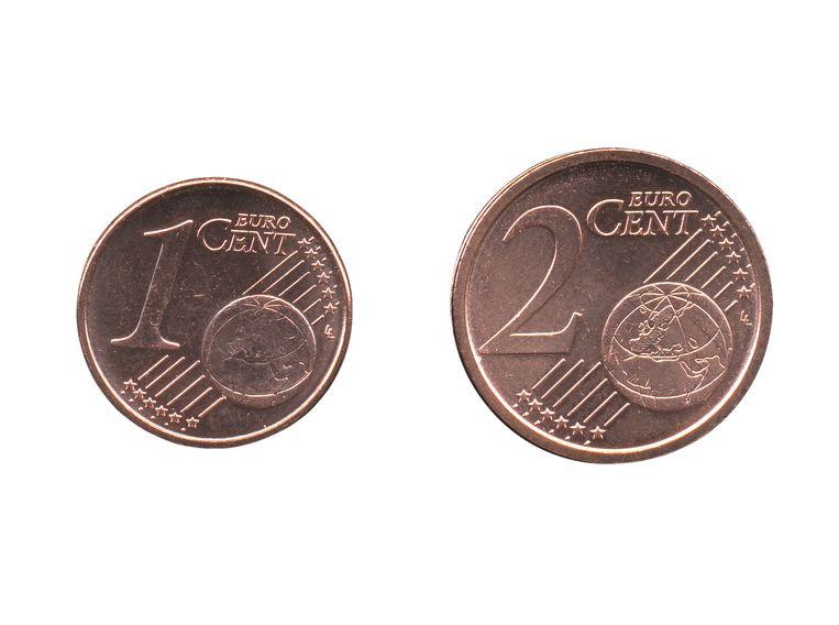 centjes 1 en 2 eurocent