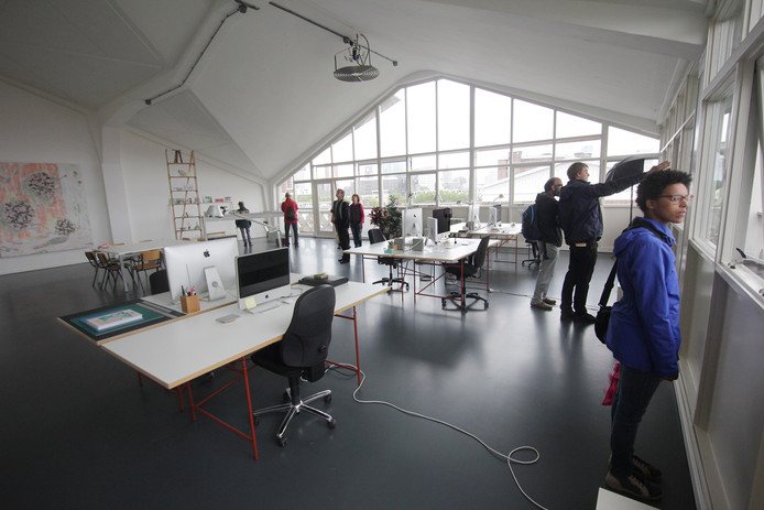 Rondleiding in het Industriegebouw tijdens  de Dag van de Architectuur in 2016