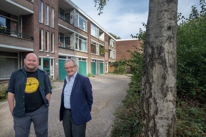 Gerben Kuin en Hans van den Hombergh bij de Nolensstraat