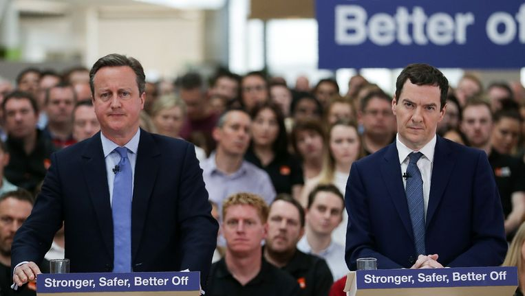 De Britse premier David Cameron en minister van Financiën George Osborne.