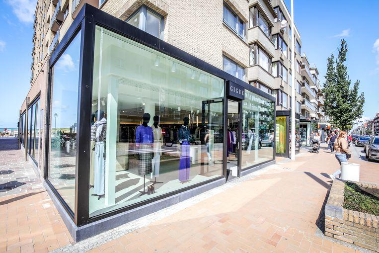 De nieuwe winkel Gigue in de Albert I-laan in Nieuwpoort-Bad.