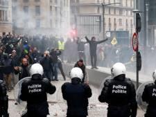 Mars tegen Marrakesh loopt uit de hand: Brusselse politie zet traangas in