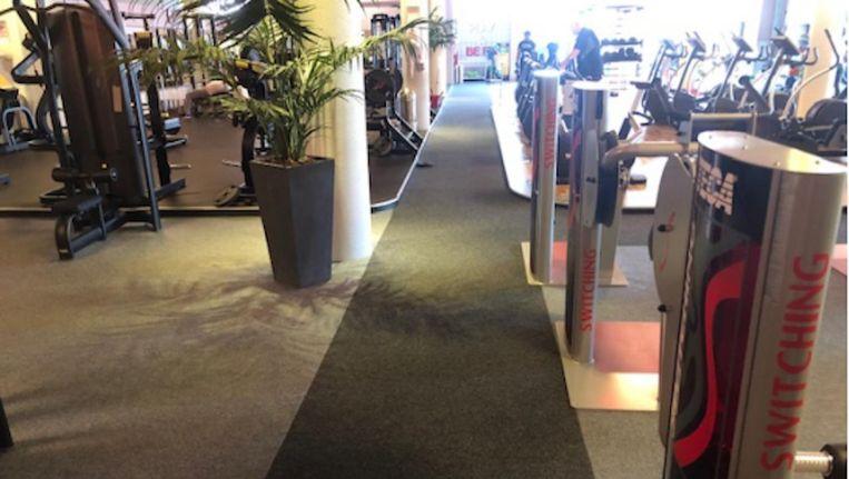 De fitnessruimte van Fit for Free waar de vrouw ten val kwam Beeld Rechtbank Amsterdam