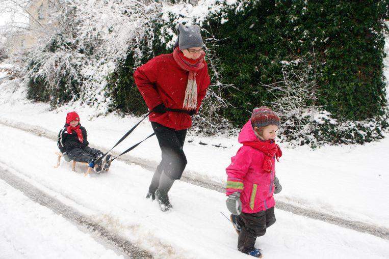 Op een sneeuwstraat kan je naar hartenlust sleeritten maken.