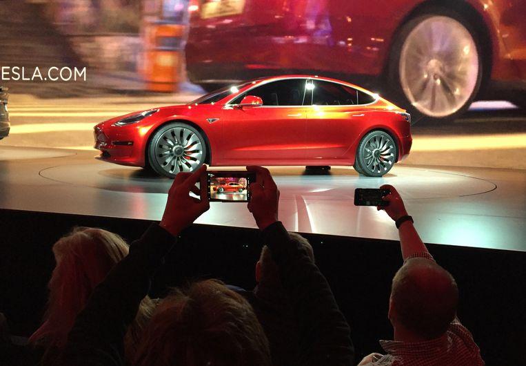 Het Tesla Model 3.