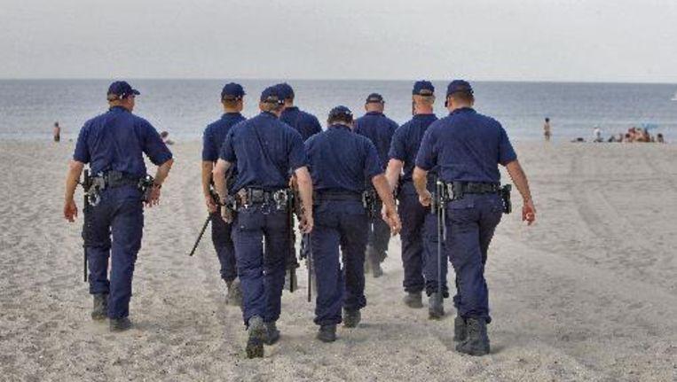 Onderzoek naar het schietincident op het strand van Hoek van Holland. Foto ANP Beeld