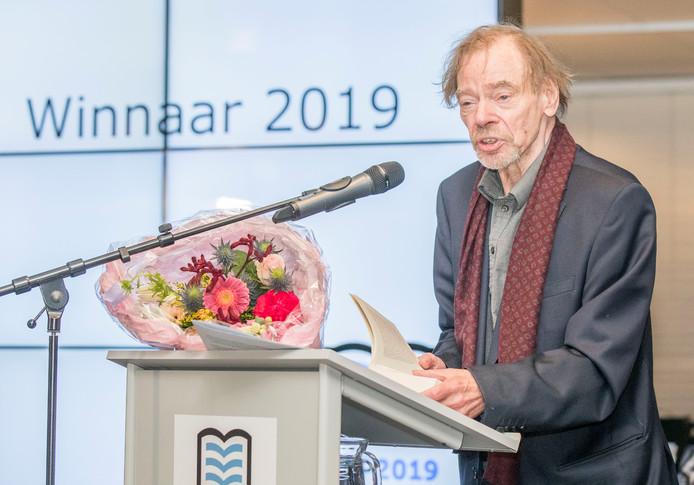 Wessel te Gussinklo, afgelopen weekend bij de uitreiking van de Zeeuwse Boekenprijs in Middelburg.