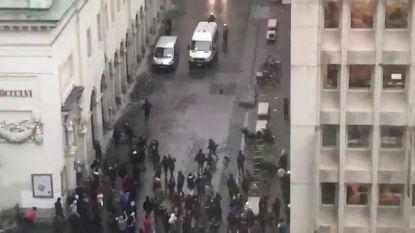 VIDEO: Eerste beelden van rellen in Brussel: politie trekt zich terug