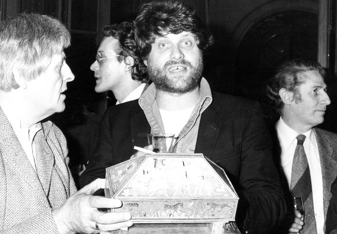 Robbe De Hert tijdens de uitreiking van de Arkprijs voor het vrije woord in 1981