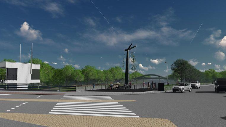 De nieuwe entree van het Noorderpark gezien vanaf het metrostation Beeld West 8 architecten