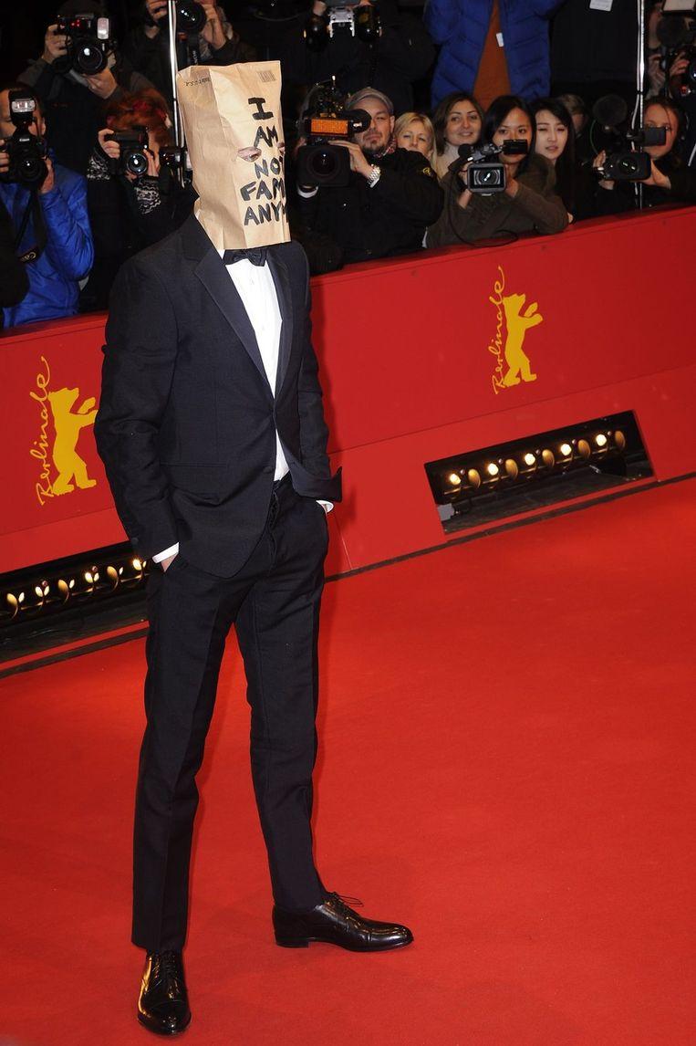 LaBeouf op de rode loper van het filmfestival in Berlijn het voorbije weekend.
