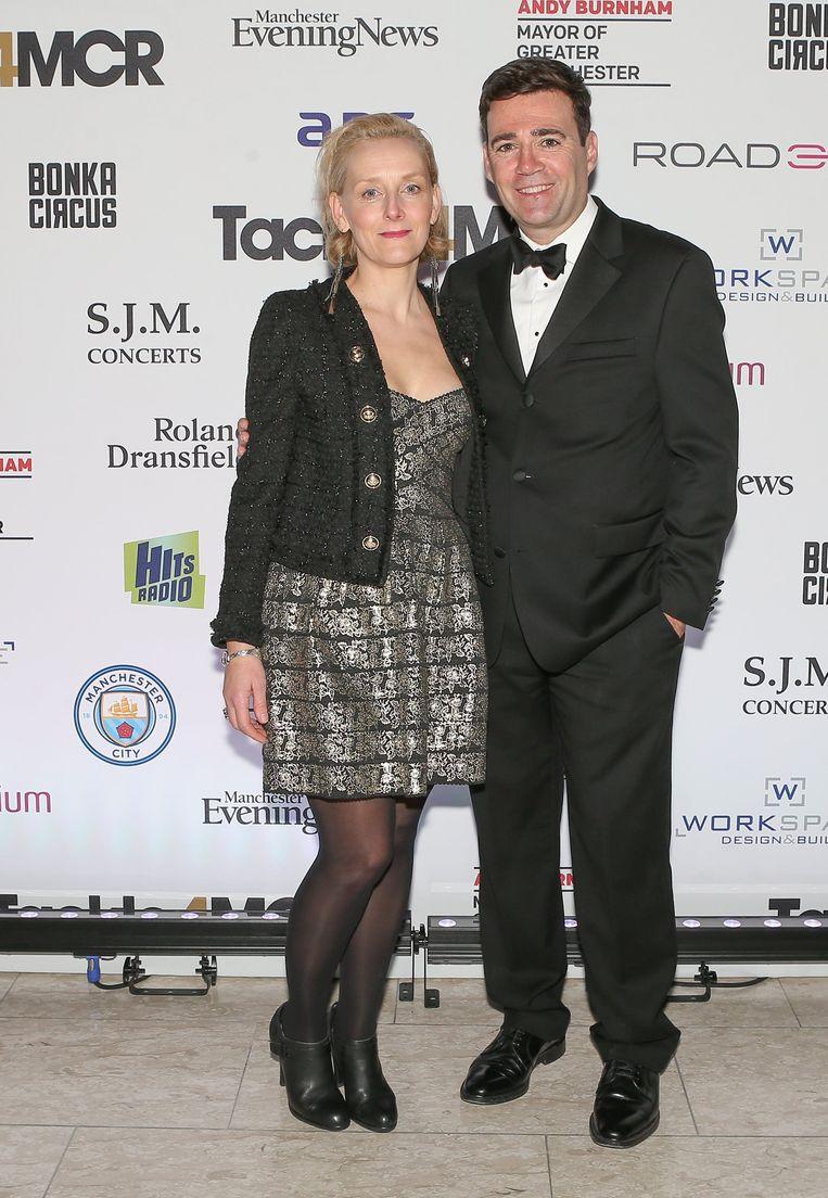 Andy Burnham, burgemeester van Manchester, met zijn partner.