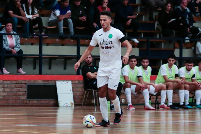Achraf Laabich in het shirt van zaalvoetbaleredivisionist Groene Ster Vlissingen.