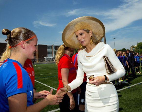 Hoog bezoek voor de Nederlandse vrouwen in Toronto, waar ze zich voorbereiden op hun WK.
