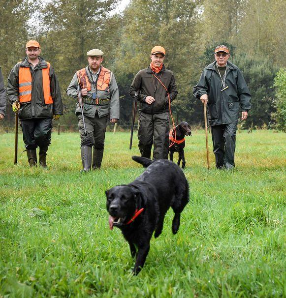 Leden van wildbeheerseenheid Goudbloem.