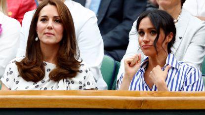 IN BEELD. Meghan en Kate supporteren voor Serena Williams op Wimbledon