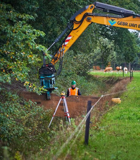 Waterschap plaatst stuwen in watergang tegen droogte in de Maashorst