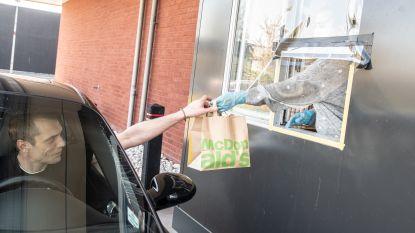 Heropening van McDonald's drive in Zingem verloopt rustig
