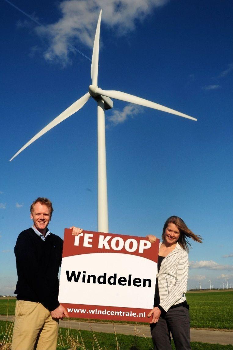 Harm Reitsma met zakenpartner Anne Janssens. Beeld