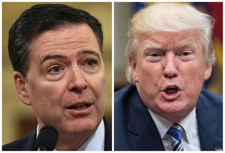 James Comey en Donald Trump Beeld AFP