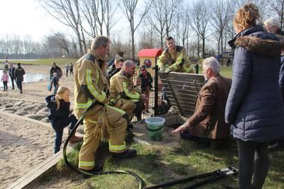 Massale vissterfte in Prinsenbos, brandweer komt in actie