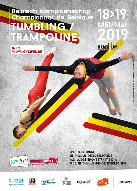 Het Belgisch Kampioenschap Tumbling en Trampoline