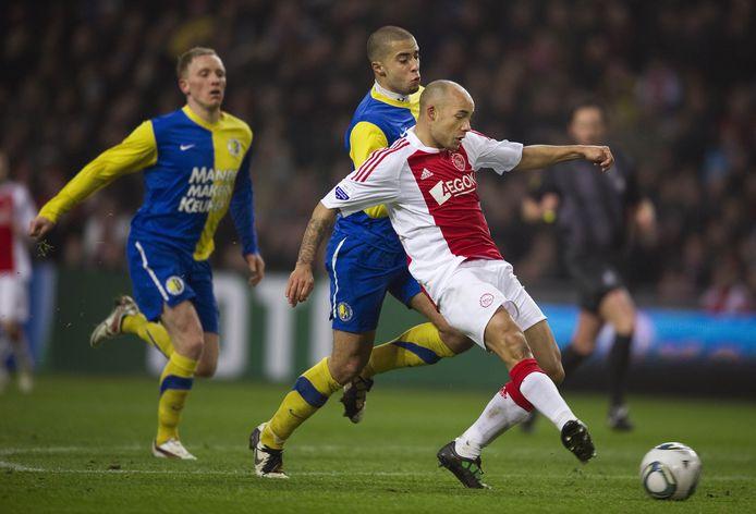 Demy de Zeeuw scoort de 4-1 voor Ajax, tijdens de halve finale van de KNVB-beker in 2011. Het is nog altijd de laatste wedstrijd waarin RKC wist te scoren tegen de Amsterdammers.