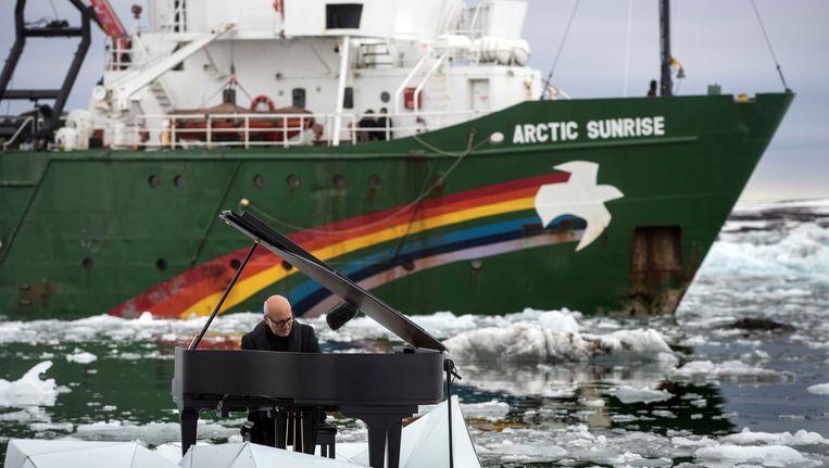 Arctic Sunrise van Greenpeace. Beeld ap