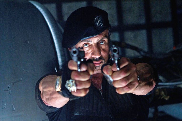 Op de foto: Sylvester Stallone (Barney Ross).