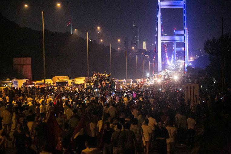 Beelden van de chaos in Turkije van juli 2016.