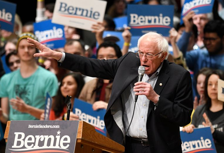 Bernie Sanders op campagne in Charlotte, in de staat North Carolina. (14/02/2020)
