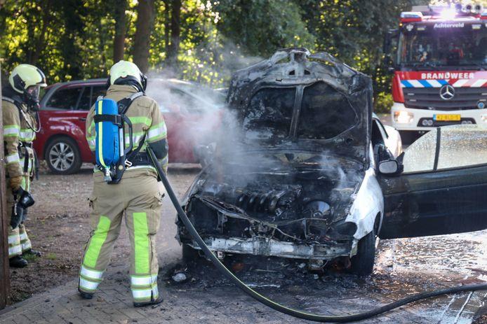 Aan de Rudolphlaan ontstond een autobrand.