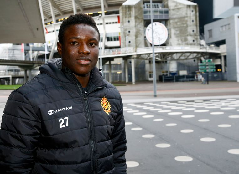 AMSTERDAM, NETHERLANDS - DECEMBER 4: Hassane Bande forward of KV Mechelen pictured in front of the Ajax Arena on December 4, 2017 in Amsterdam, Netherlands.