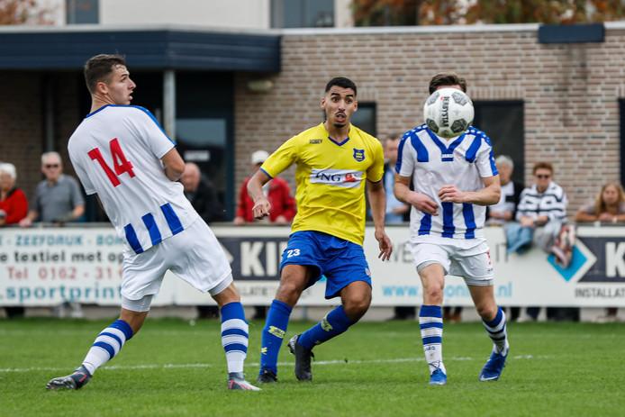 Nassim Asrih (hier op archieffoto) scoorde de tweede voor Dongen.