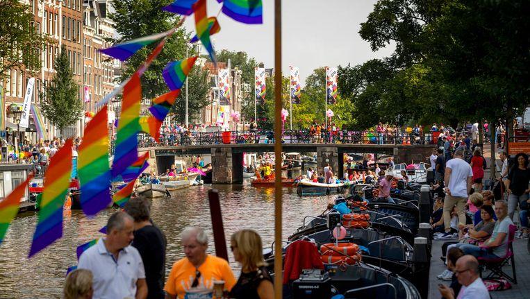 De Prinsengracht voordat de Parade langskwam Beeld anp