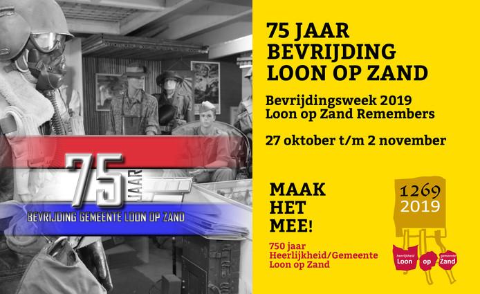 Affiche herdenkingsweek 75 jaar bevrijding.