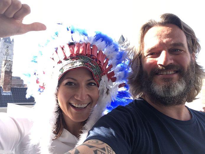 Buffalo Kurt Burgelman met Stephanie D'Hose