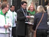 D66-fractievoorzitter Rob Jetten voert campagne
