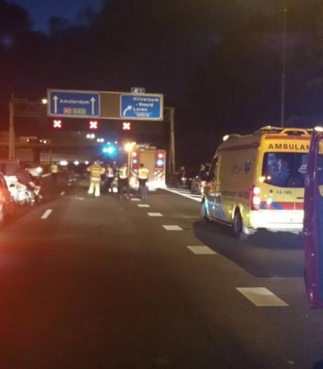 A1 weer open na ongeluk met meerdere auto's