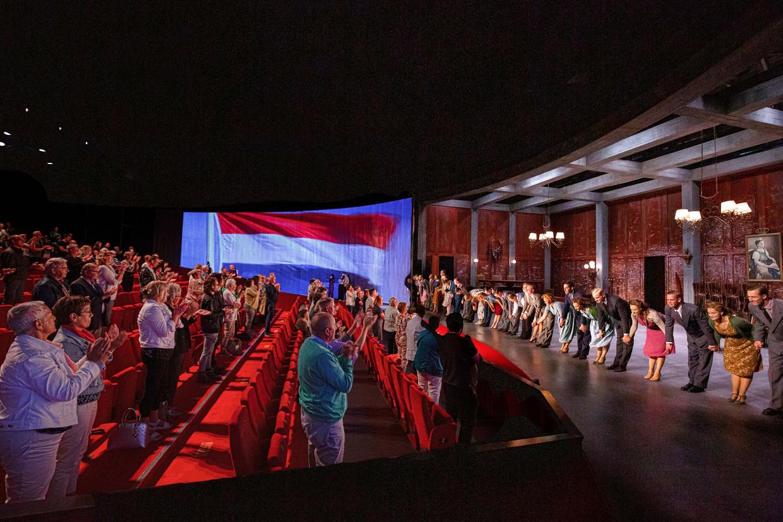 Soldaat van Oranje de Musical, dat nu slechts 300 in plaats van 1100 man publiek toe mag laten. Beeld Samuel van Leeuwen