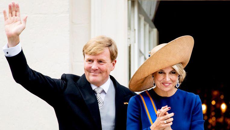 Koning Willem-Alexander en Máxima. Beeld anp