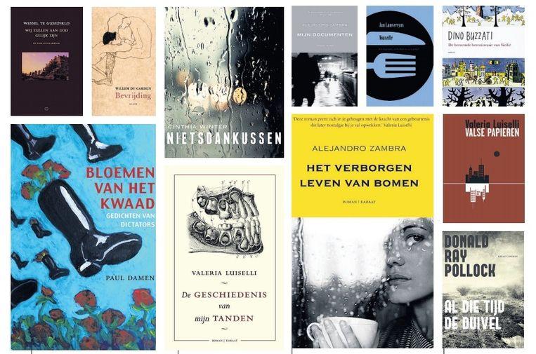 Verschillende boeken die uitgeverij Bananafish heeft uitgegeven. Beeld -
