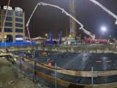 Klus van 24 uur: 1600 kuub beton in kelder van woontoren De Brabander
