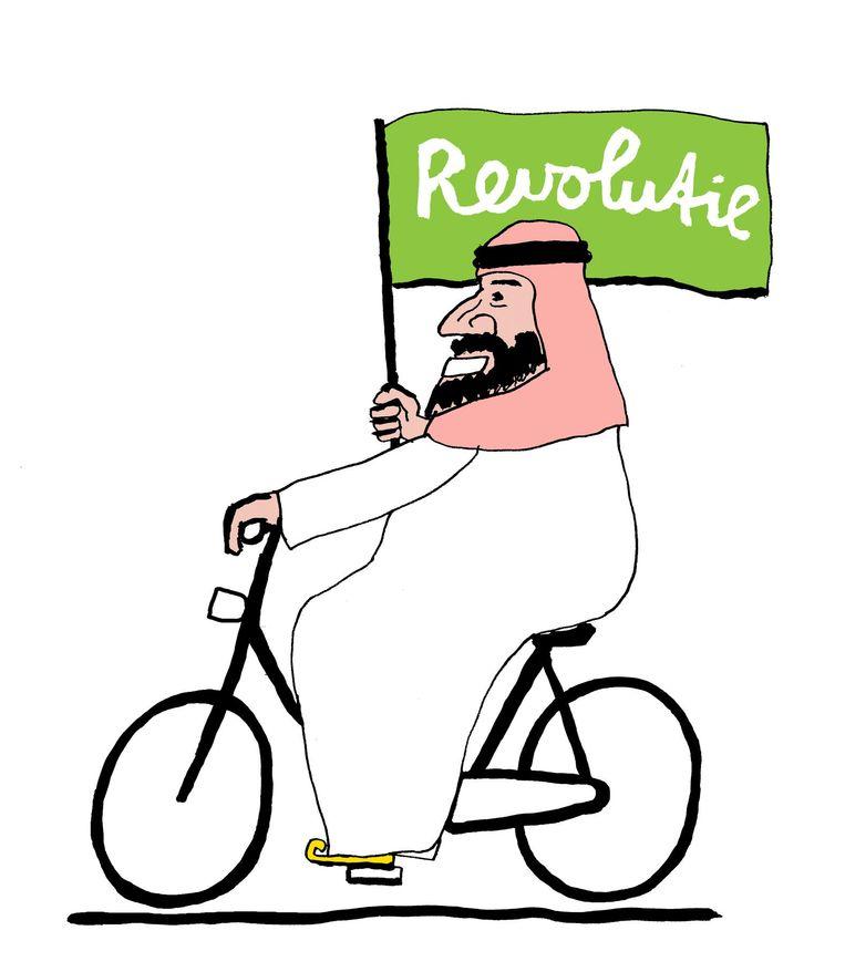 Kroonprins Mohammad bin Salmanvan Saoedi-Arabië zet zijn hervormingsbeleid voort. Beeld Bas van der Schot