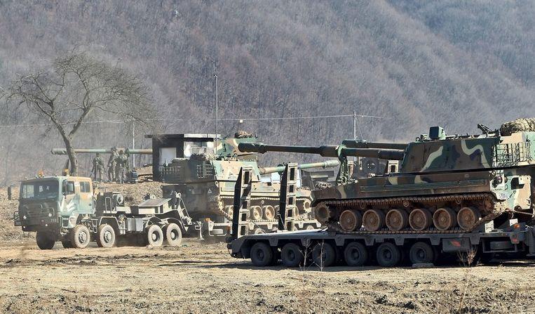 Zuid-Koreaanse tanks in actie tijdens Foal Eagle Beeld epa