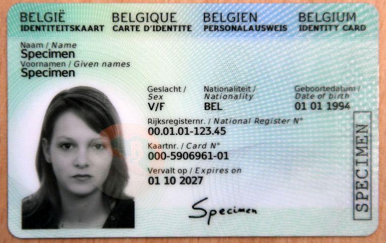 Zo ziet de nieuwe identiteitskaart er uit.