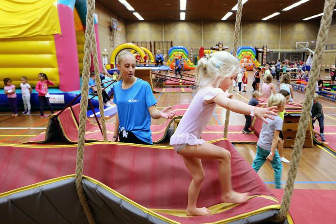 Afgelopen herfstvakantie waren er activiteiten in de Oosterheidehal. FOTO: RAMON MANGOLD/PIX4PROFS