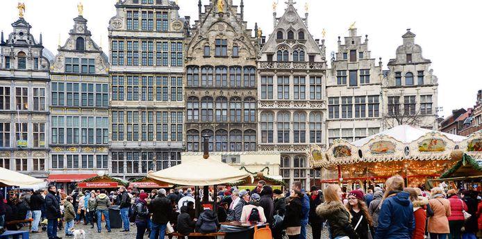 De kerstmarkt in het centrum van Antwerpen: de komende weken weer een van de trekpleisters van deze stad